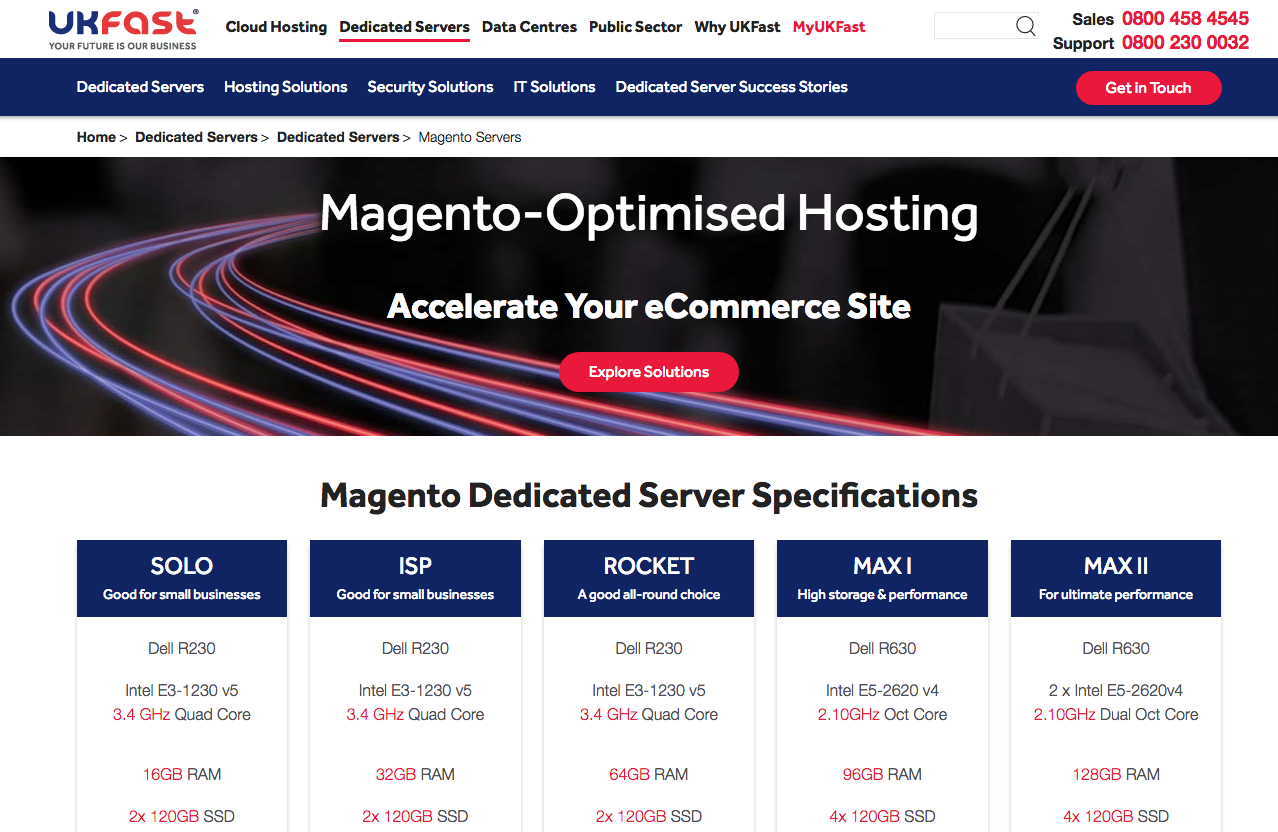 Magento Optimised Web Hosting