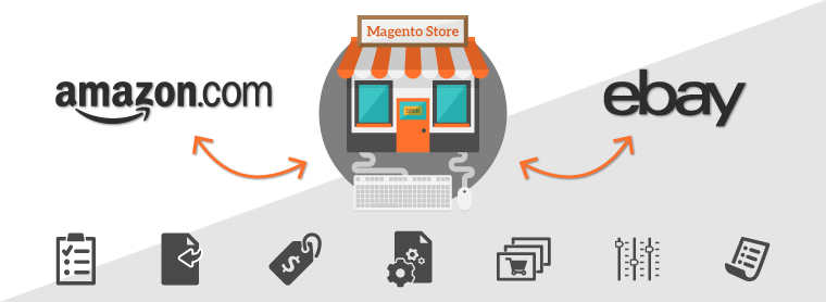 Magento 2 offers marketplace integration including Amazon and eBay