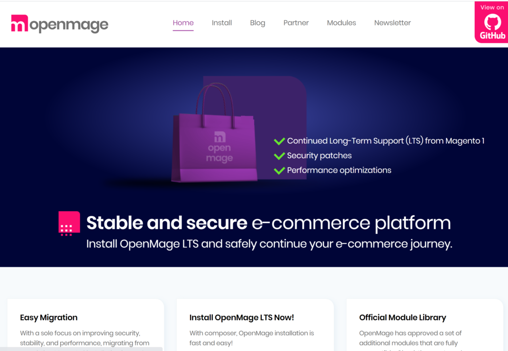 OpenMage an open source Magento 1 project