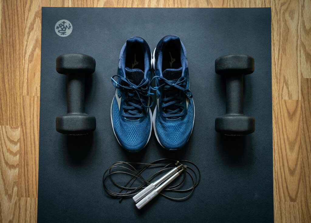 Fitness equipment saw an increase in online ecommerce sales during COVID-19 when people had to stay at home