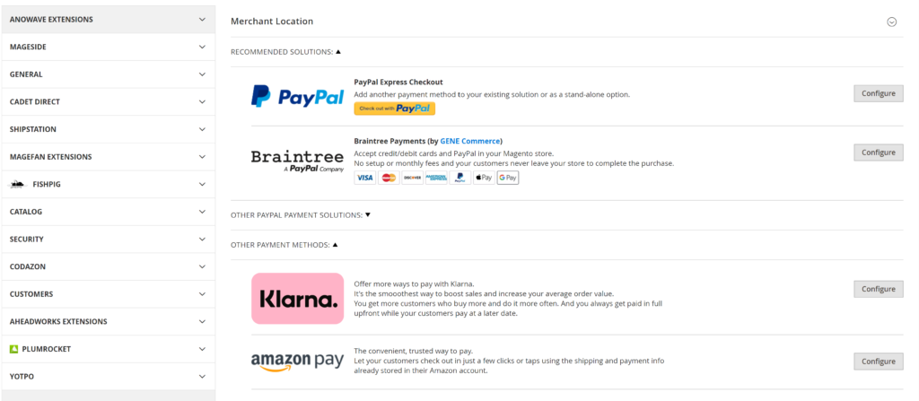 Magento supports hundreds of payment gateways
